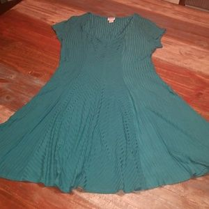 Fit and flare emerald green